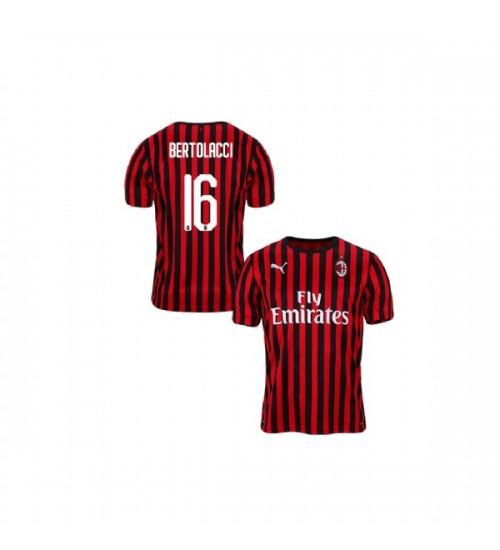 Youth AC Milan 2019-20 Replica Home #16 Andrea Bertolacci Red Black Jersey