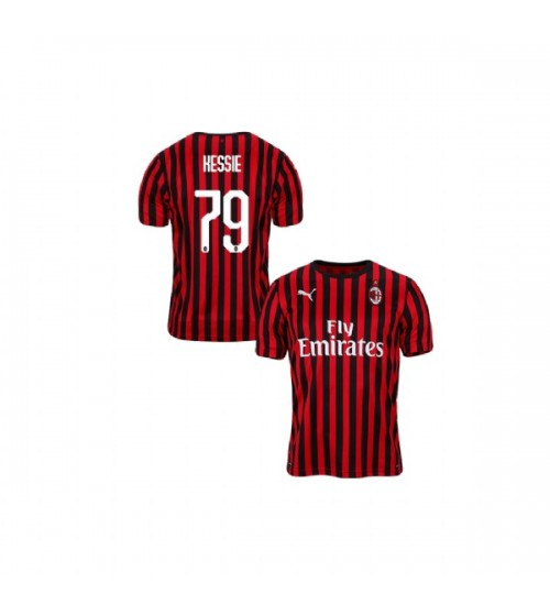 Youth AC Milan 2019-20 Replica Home #79 Franck Kessie Red Black Jersey