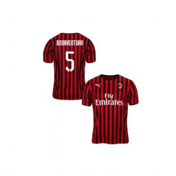 Youth AC Milan 2019-20 Replica Home #5 Giacomo Bonaventura Red Black Jersey