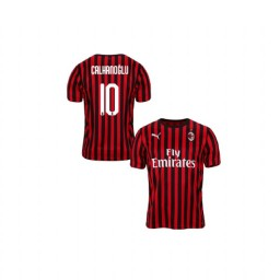 Youth AC Milan 2019-20 Authentic Home #10 Hakan Calhanoglu Red Black Jersey
