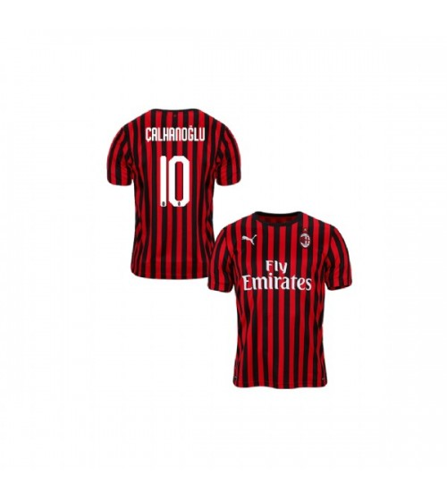 Youth AC Milan 2019-20 Replica Home #10 Hakan Calhanoglu Red Black Jersey