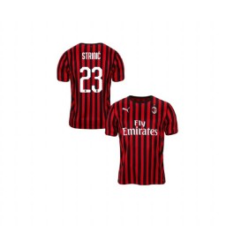 Youth AC Milan 2019-20 Authentic Home #23 Ivan Strinic Red Black Jersey