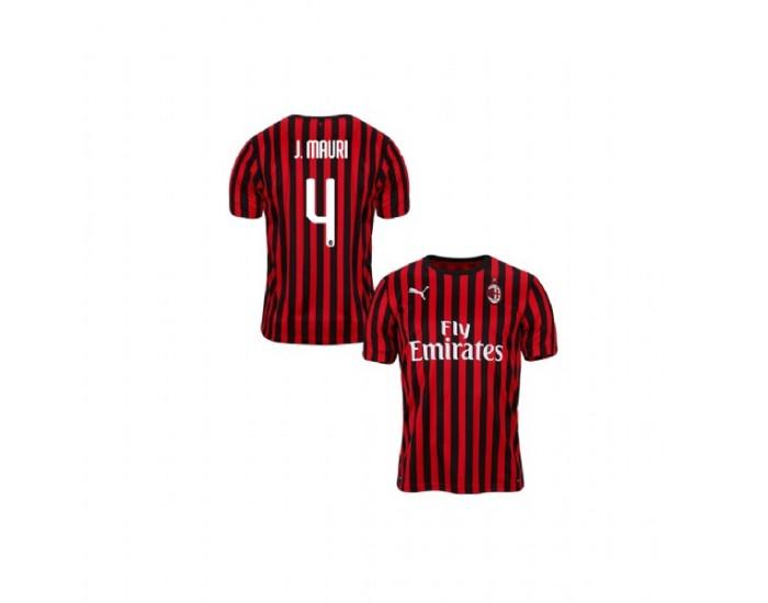 Jose Mauri AC Milan 19-20 Red Black Youth Home Replica Jersey