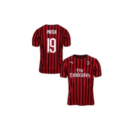 Youth AC Milan 2019-20 Authentic Home #19 Krzysztof Piatek Red Black Jersey