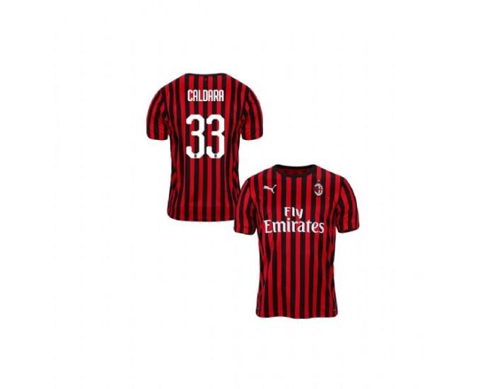 Mattia Caldara AC Milan 19-20 Red Black Youth Home Replica Jersey