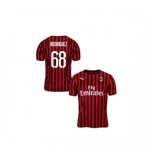 Youth AC Milan 2019-20 Authentic Home #68 Ricardo Rodriguez Red Black Jersey