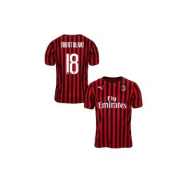 Youth AC Milan 2019-20 Authentic Home #18 Riccardo Montolivo Red Black Jersey