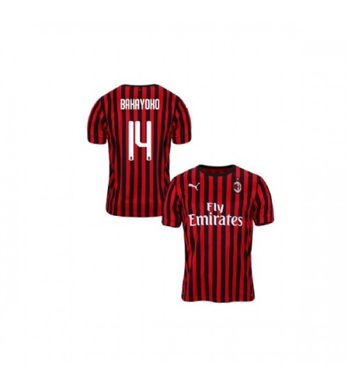 Youth AC Milan 2019-20 Authentic Home #14 Tiemoue Bakayoko Red Black Jersey